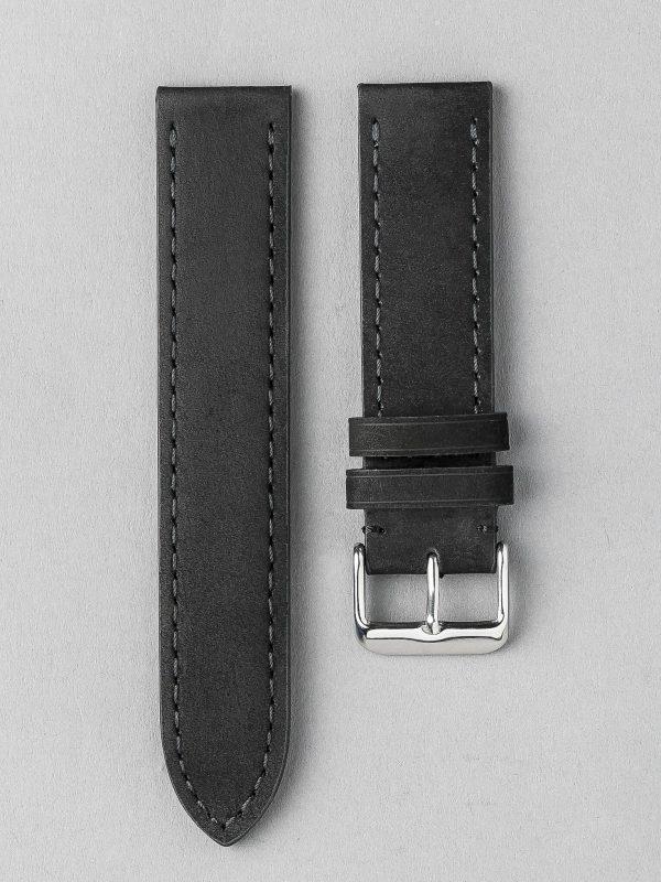 BC3-1 麂皮風格平身牛皮錶帶 - 黑色