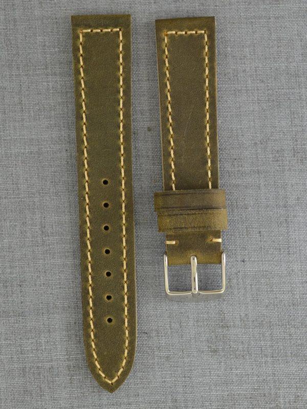 BC3-1 平身牛皮麂皮錶帶 - 大象灰