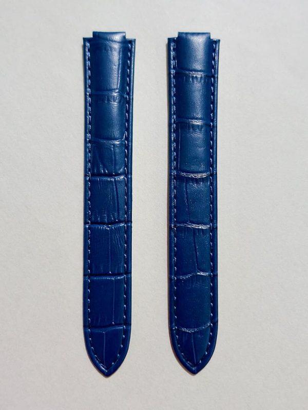 CBB 壓鱷魚紋牛皮錶帶 - 珠光深藍色(僅適用 Cartier 卡地亞藍氣球摺疊扣系列錶款)