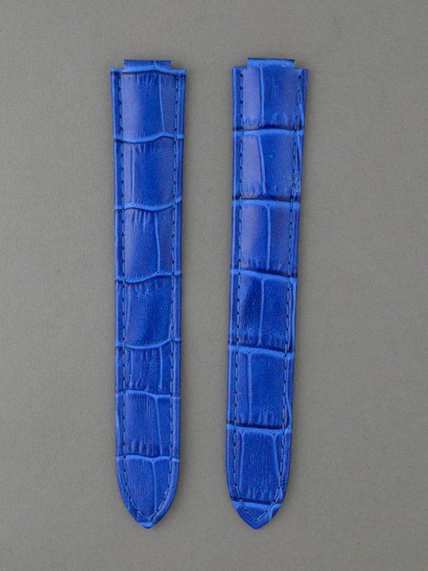 CBB 壓鱷魚紋牛皮錶帶 - 寶藍色(僅適用 Cartier 卡地亞藍氣球摺疊扣系列錶款)