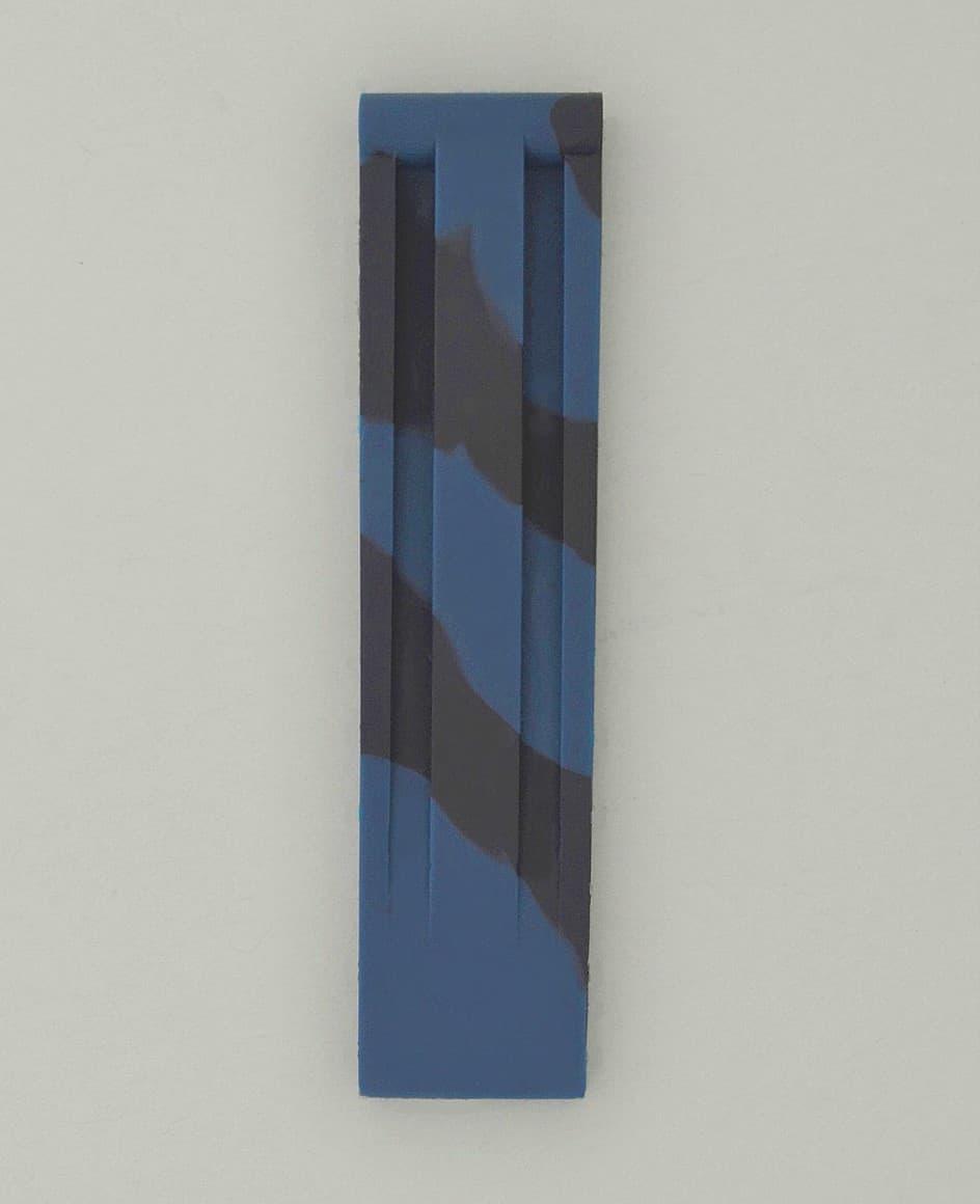 SD 直紋造型高純度矽膠錶帶 - 迷彩藍黑