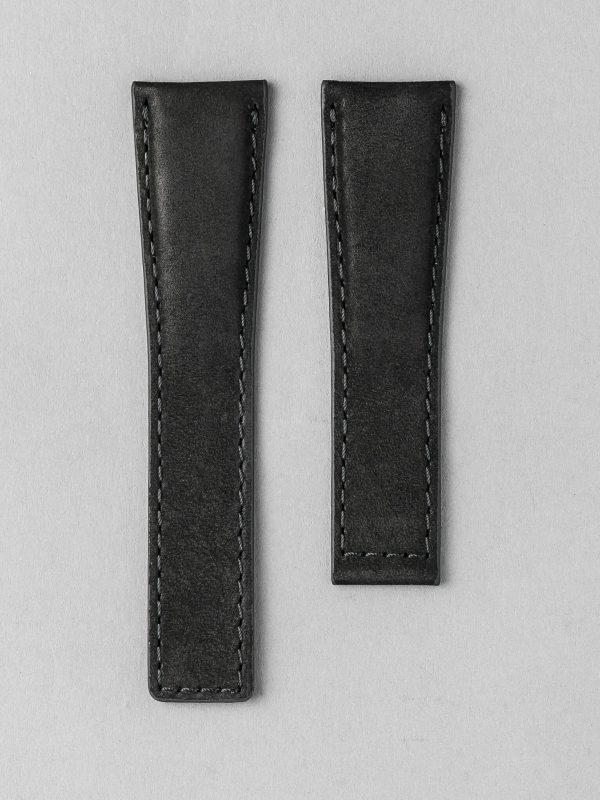 TH 麂皮風格牛皮錶帶 - 黑色(適用 TAG Heuer 泰格豪雅錶款)